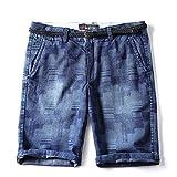 Mistere Jeans Men's Pants Five Pants Youth Cotton Leisure Jeans Shorts,8765 Blue,40