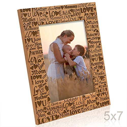 Kate Posh I Love You Mom, Mother, Mommy Picture Frame, Mommy & Me Gifts, New Mom, New Baby, Mother's Day (5x7-Vertical) (Mommy Photo Frame)