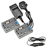 DSTE® 2x NP-FP50 Rechargeable Li-ion Battery + DC04U Travel and Car Charger Adapter for Sony NP-FP30, NP-FP50, NP-FP60, NP-FP70, NP-FP71 and Sony DCR-30, DCR-DVD103, DCR-DVD105, DCR-DVD105E, DCR-DVD202E, DCR-DVD203, DCR-DVD203E, DCR-DVD205, DCR-DVD205E, DCR-DVD304E, DCR-DVD305, DCR-DVD305E, DCR-DVD403, DCR-DVD403E, DCR-DVD404E, DCR-DVD405, DCR-DVD405E, DCR-DVD505, DCR-DVD505E, DCR-DVD602, DCR-DVD602E, DCR-DVD605, DCR-DVD605E, DCR-DVD653, DCR-DVD653E, DCR-DVD703, DCR-DVD703E, DCR-DVD705, DCR-DVD705E, DCR-DVD755, DCR-DVD755E, DCR-DVD803, DCR-DVD803E, DCR-DVD805, DCR-DVD805E, DCR-DVD905, DCR-DVD905E, DCR-DVD92, DCR-DVD92E Digital Camera
