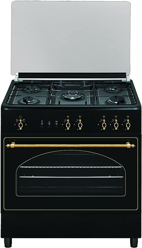 Cocina Gas 5 quemadores Serie Rústica 90×60 GLEM gas butano ...