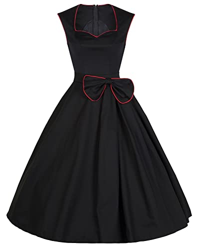 YACUN Women's Vintage Floral 1920s Rockabilly Swing Cocktail Party Dress