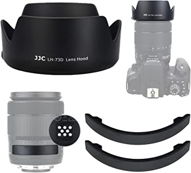 JJC Lens Hood Shade for Canon EF-S 18-135mm f//3.5-5.6 is USM Lens on Canon 80D 77D 60D with 2 Lens Contacts Cover for Canon PZ-E1 Power Zoom Adapter