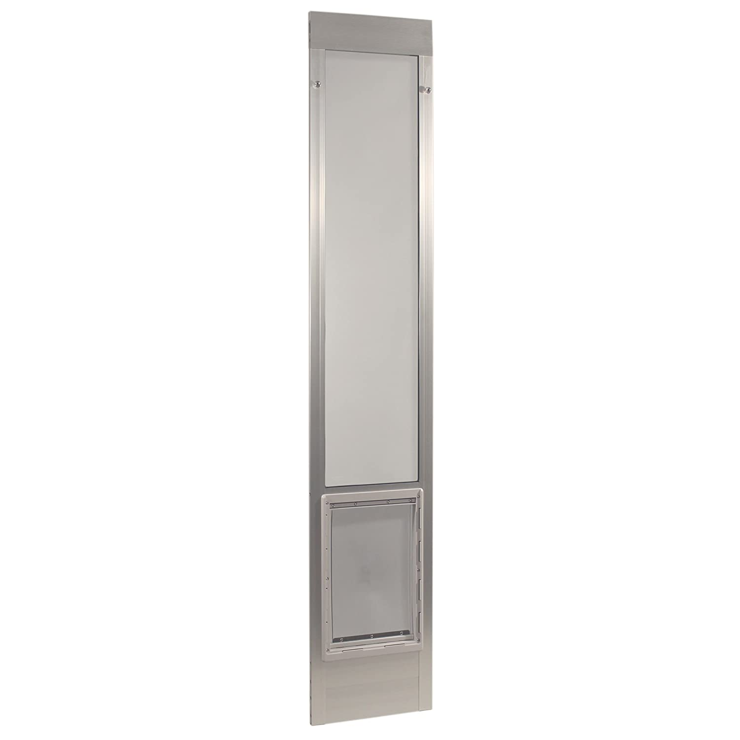 Mill Silver Extra Large 10.5\ Mill Silver Extra Large 10.5\ Ideal Pet Products Fast Fit Aluminum Pet Patio Door Mill, X-Large 10.5  x 15  80 , Silver