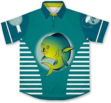 ScudoPro Dorado Fish Camisa de Pesca Deportiva -: Amazon.es ...