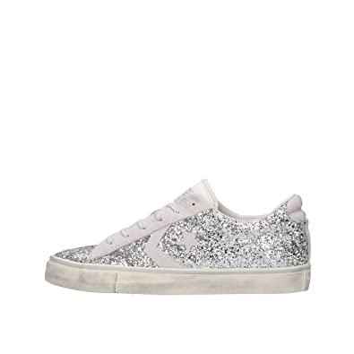 converse pro leather glitter