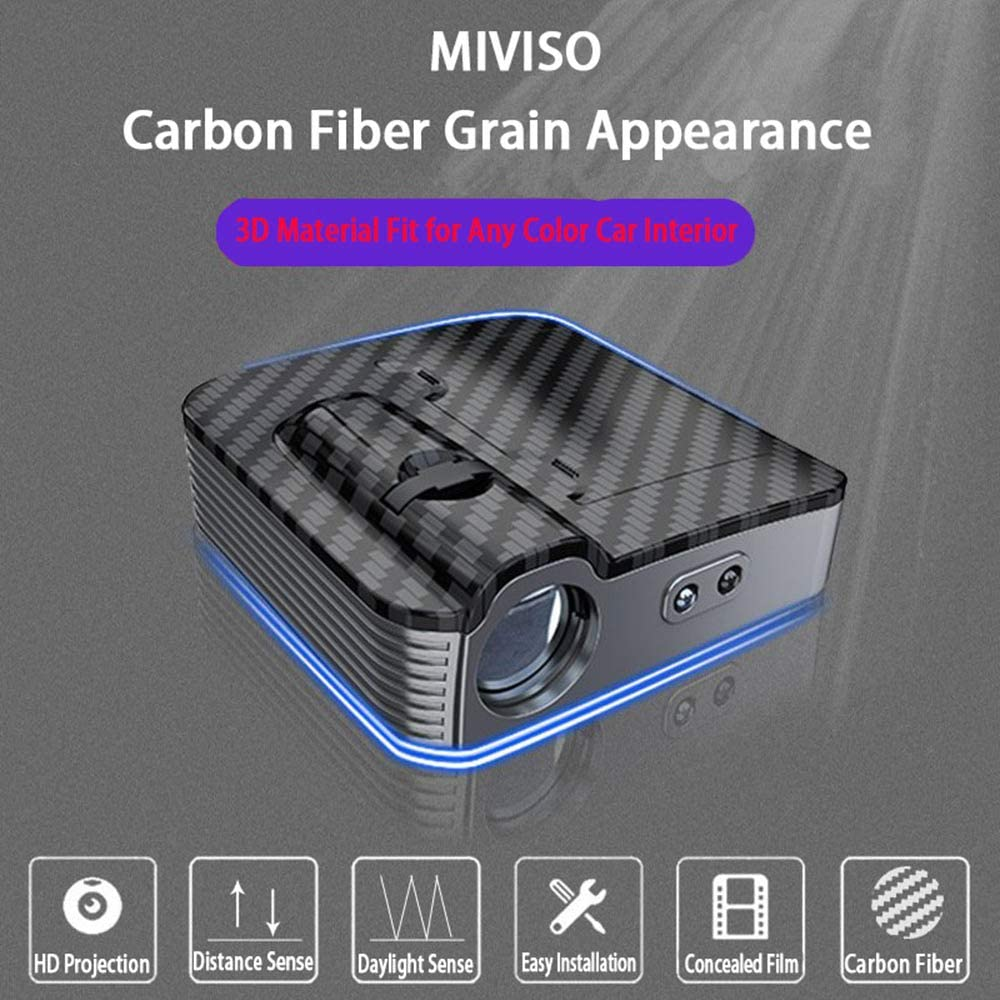 MIVISO 2019 Car Door Led Logo Projector Light No Magnet Upgraded Wireless Lamp Welcome Ghost Shadow Light 2 Pcs