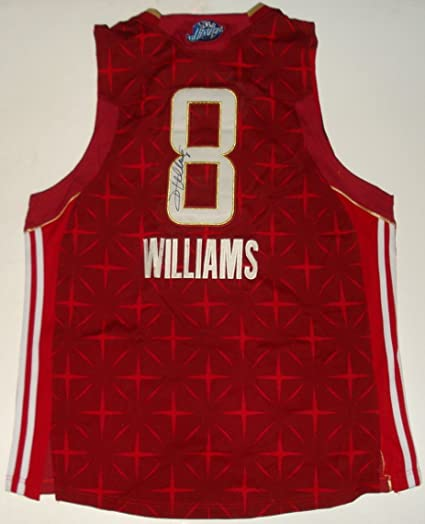 low priced 65bdd c1059 Deron Williams Autographed Jersey (Jazz) at Amazon's Sports ...