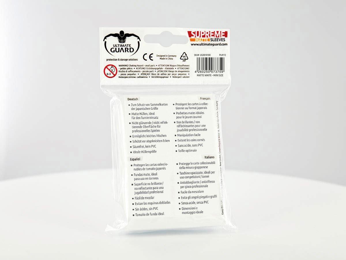 Amazon.com: Ultimate Guard Supreme Mini Matte White Sleeves ...