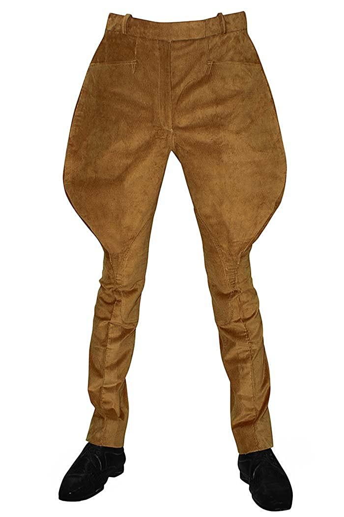 Edwardian Men's Pants, Trousers, Overalls INMONARCH Mens and Womens Brown Corduroy Baggy Breeches Riding Pants BB15 $146.00 AT vintagedancer.com