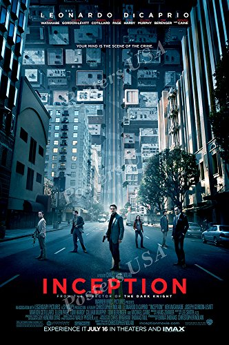 Posters USA - Inception Movie Poster GLOSSY FINISH) - MOV168 (24'' x 36'' (61cm x 91.5cm)) by Posters USA