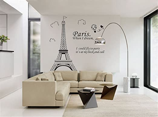1 opinioni per ufengke Semplice Moda Torre Eiffel di Parigi Punto di Riferimento Adesivi