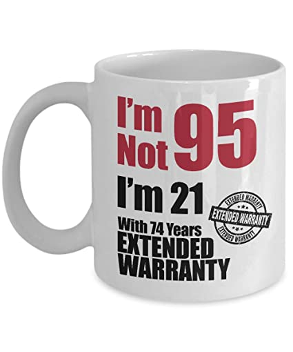 Amazon Novelty 95th Birthday Coffee Mug