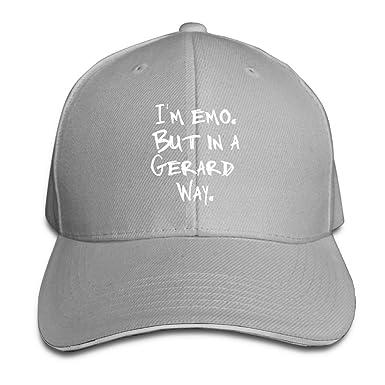 Unisex Adjustable Sandwich Hats Solid Colors Baseball Cap Snapback Hat for  I m Emo But 7bcb9694dc8e