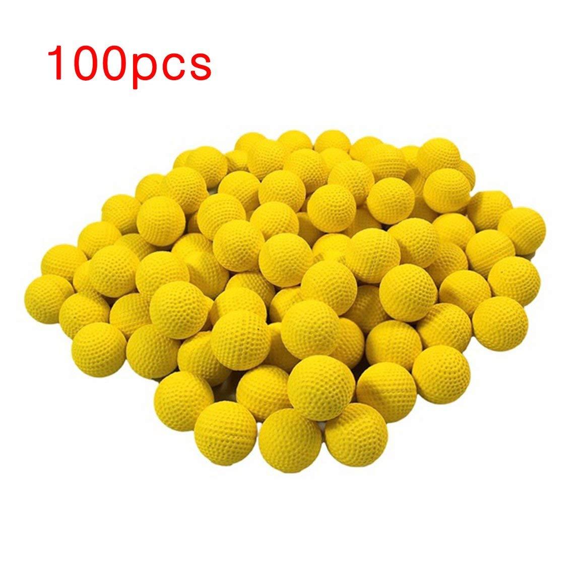 Delicacydex 100 unids Bolas de Bolas de Espuma de Repuesto Redondo Bolas Reemplazo de Bolas Compatible para Nerf Rival Pistola Apollo Juguete de Los Niños