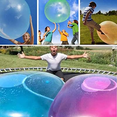 ZINUY-HH Bubble Balls For Kids 2 Pack Water 2 Pack Bubble Balls Toy Balloon, Summer Inflatable Filled Tear-resistant Random Color X-Large: Toys & Games