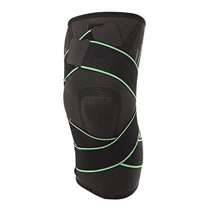 11ba415bf2 Amazon.com: FHPJK 1PC Nonslip 3D Pressurized Fitness Running Cycling  Bandage Knee Support Braces Elastic Nylon Sports Compression Pad Sleeve:  Sports & ...