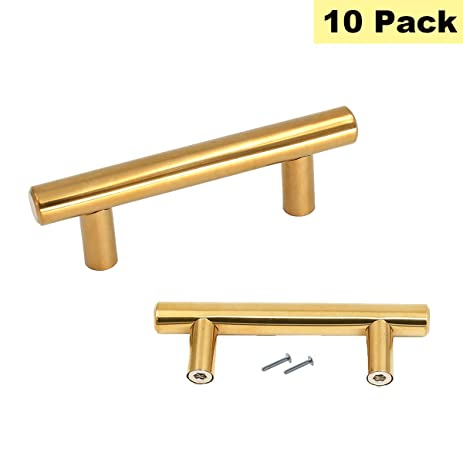 gold drawer pulls knobs kitchen cabinet hardware 2 5inch hole