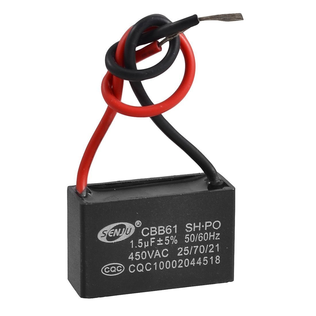 CBB61 AC 450V 1.5uF 2-Draht-Anschluss Deckenventilator Motor Run ...