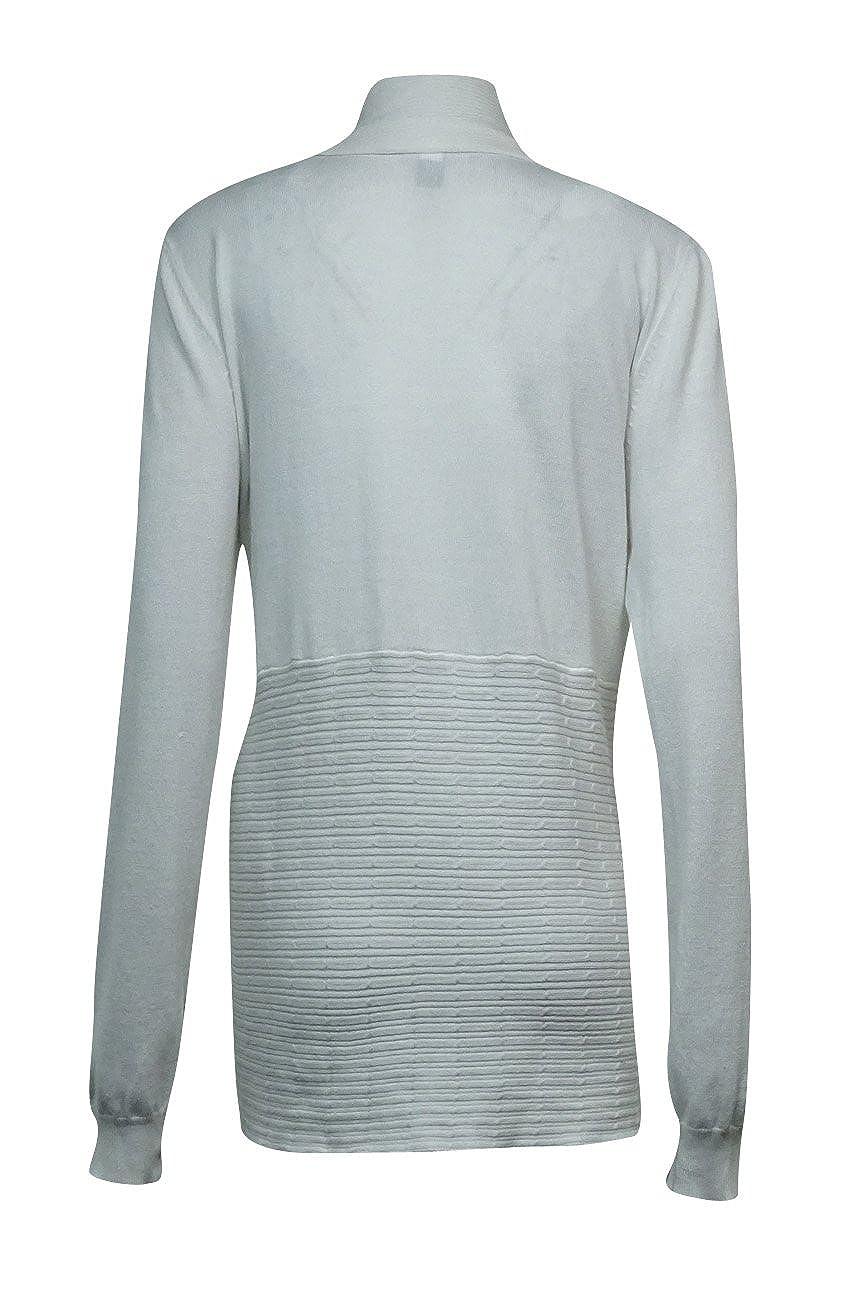 Karen Scott Womens Open Front Draped Long Sleeve Cardigan