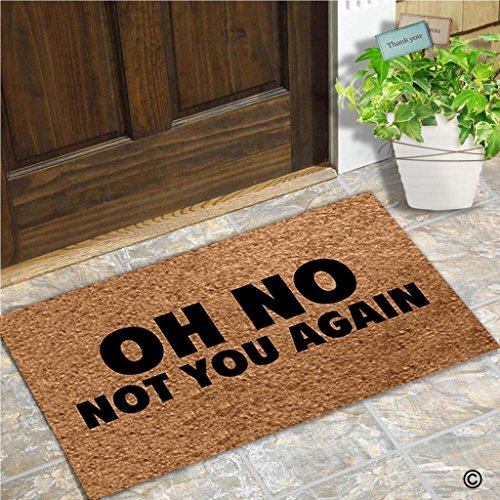 Entrance Floor Mat Funny Door Mat Oh No Not You Again Doormat Outdoor Indoor Mat Non-woven Fabric Top Rubber Back (Oh No Not You Again)