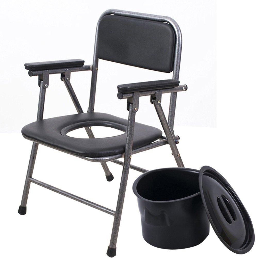 厚い鋼の古い男の便座の折り畳み式のトイレトイレの移動式トイレ滑り止めの古いトイレチェアの便器の椅子 (サイズ さいず : A) B07CXR1RG2 A  A
