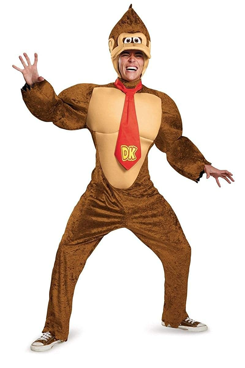 Disguise Mens Super Mario Donkey Kong Deluxe Costume