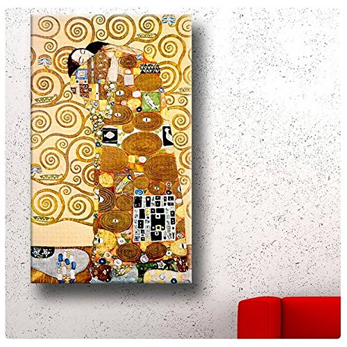 Alonline Art - The Embrace Gustav Klimt Poster Prints Rolled Print on Fine Photo
