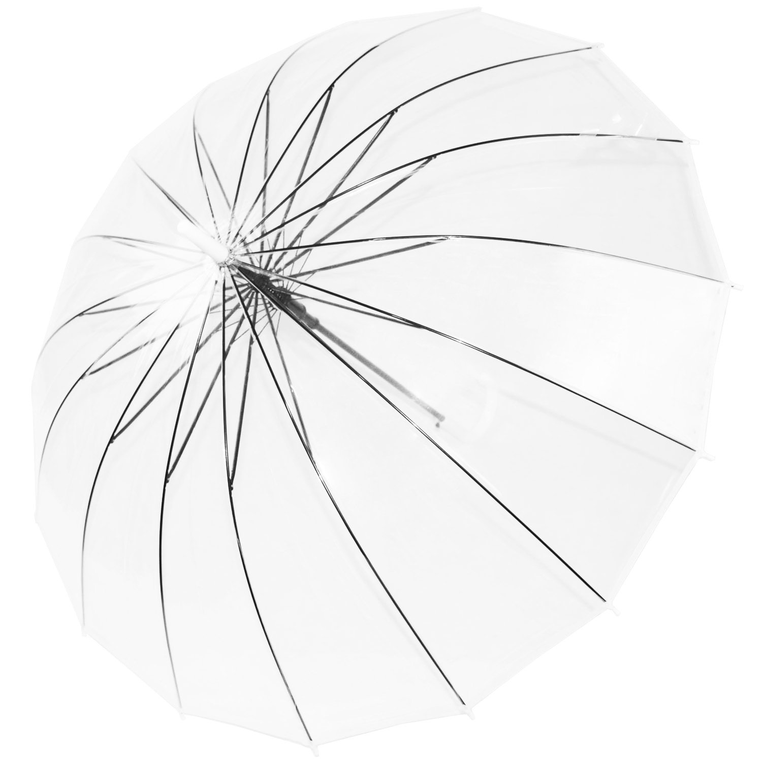Kung Fu Smith Large Clear Umbrella - Auto Open and Windproof