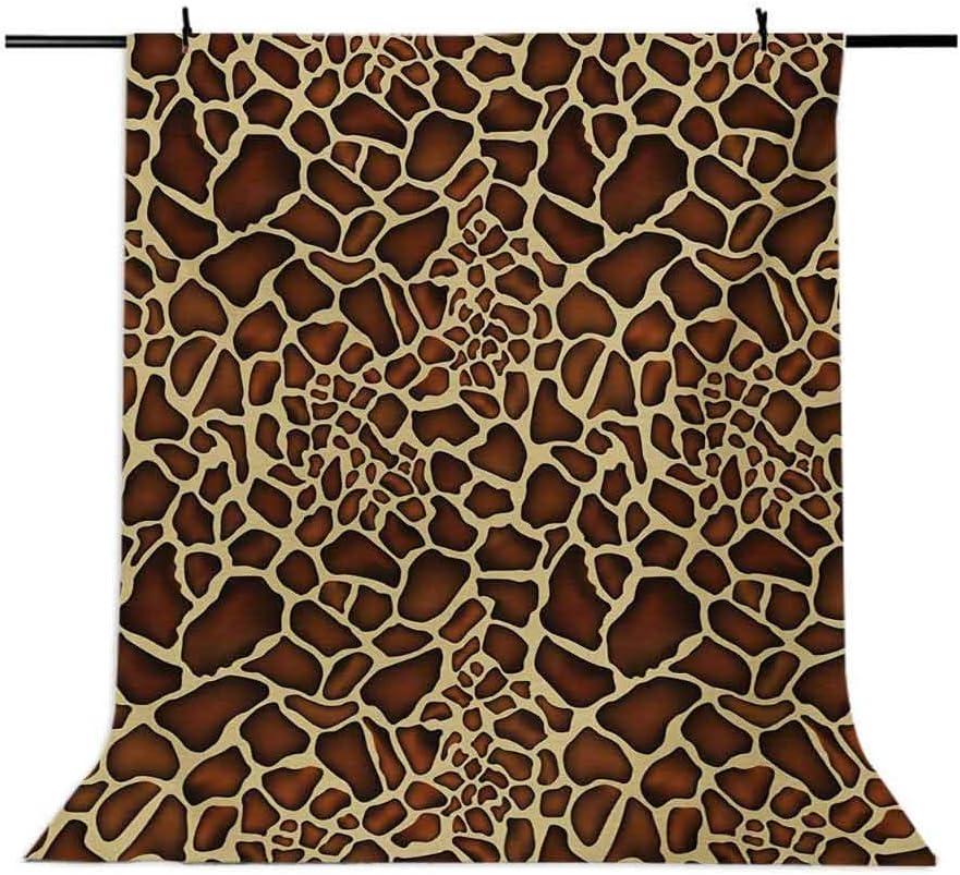 Zambia 10x15 FT Photo Backdrops,Giraffe Skin Pattern Wildlife Symbolic Zoo Hippie Style Artful Picture Background for Kid Baby Boy Girl Artistic Portrait Photo Shoot Studio Props Video Drape Vinyl
