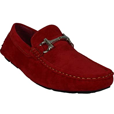 898daa25480 Amazon.com | Men's Giovanni Shoes Loafers Casual Suede Slip-On Dress ...