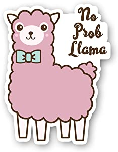 No Prob Llama Sticker Funny Llama Stickers - Laptop Stickers - 2.5 Inches Vinyl Decal - Laptop, Phone, Tablet Vinyl Decal Sticker S214537