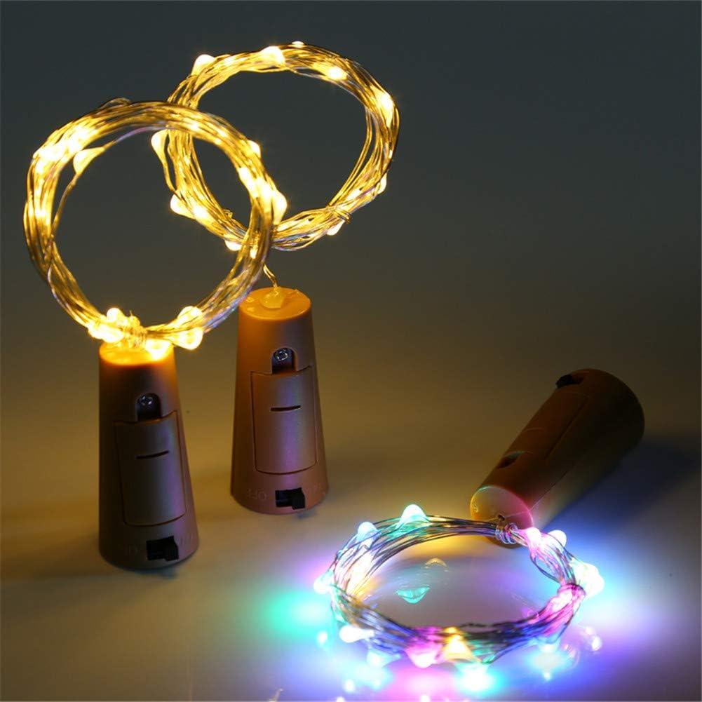 Pequeño Fresca Luz de Botella Botellas de Vino Luces Alambre de Cobre El Plastico Decoración Navideña Fiesta de Cumpleaños Día de San Valentín Boda 3 Piezas