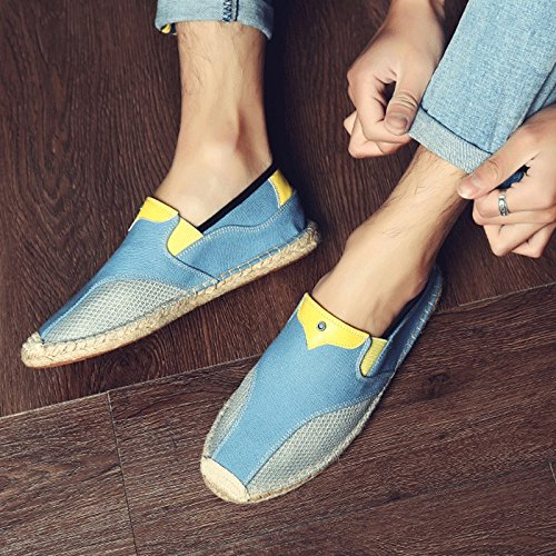 Scarpe di Scarpe Estiva di Tela Casual Scarpe Blue da Lino Stoffa da Pescatore Vecchia Canapa Maschi di Scarpe Pechino Scarpe di Stile Scarpe LIUXUEPING Scarpe Uomo Cinese Pigre Stagione 4Ucwq66C