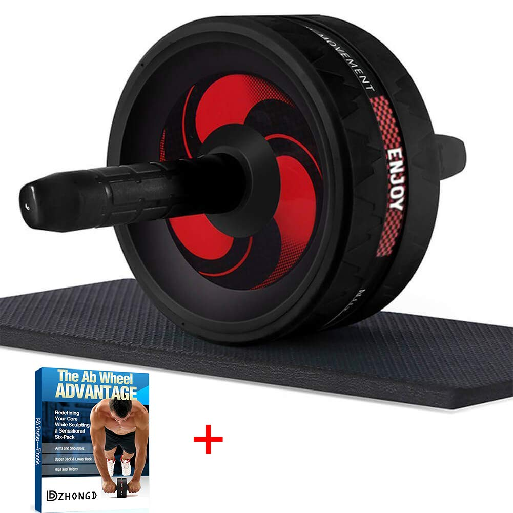 DZHONGD Ab Roller, Home Abdominal Exercise Equipment Wider Ab Roller Wheel for Core Workout