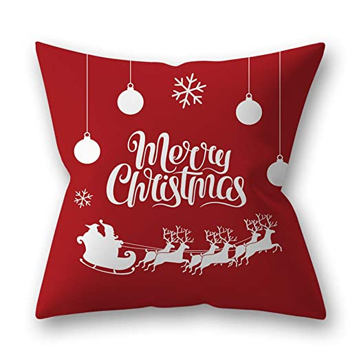 YUHUALI Decoración del hogar de Navidad Almohada Piel de ...