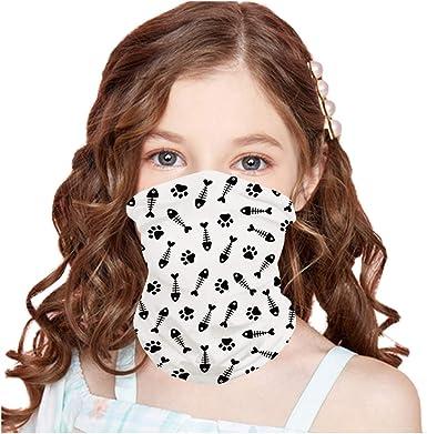 Face Covering Neck Gaiters for Kids Balaclava Rave Bandanas Headband Summer Neck Gaiter Color 32