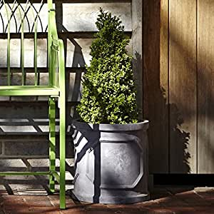 45cm de plomo Fibrestone Chelsea cilindro sintética plantador/jardín maceta/flor contenedor