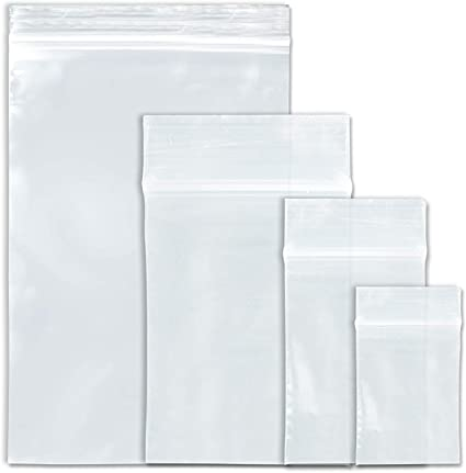 Clear Small Zipper Bag 6x9 Inch Reclosable Poly Bags 1000 Pack 4 Mil