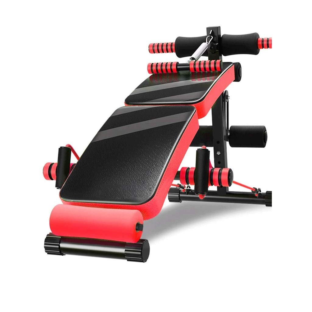 SPTAIR Purple Sit-up Board Multi-Function Fitness Chair Bench Press Artifact Dumbbell Bench Equipment Training Waist Back Chair Stool (Color : Red) by SPTAIR