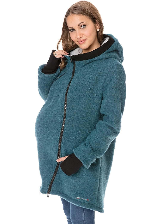 GoFuture Damen Tragejacke für Mama und Baby 4in1 Känguru Merinowolle  SHELTER ALLNATURA  GF2405