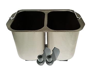 Doble molde para 2 Kleine Pan + Ganchos para amasar pan Panificadora B3990/b3955: Amazon.es