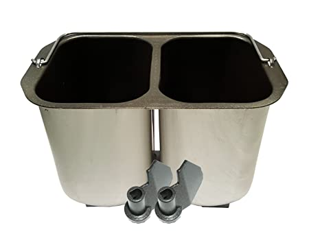 Doble molde para 2 Kleine Pan + Ganchos para amasar pan ...