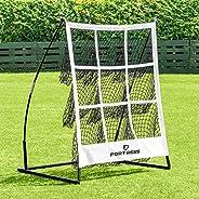 FORTRESS Portable Baseball Pitchers Pocket | 9 Hole Pitching Target Strike Zone | Softball & Baseball Net
