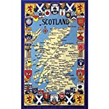 IC Scotland Map & Coat Of Arms Tea Towel