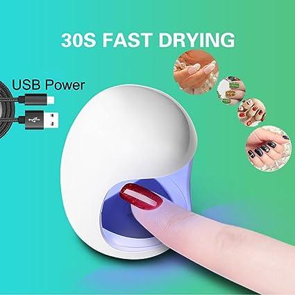 Portátil mini USB LED UV lámpara UV uñas gel de endurecimiento lámpara luz uñas gel nail