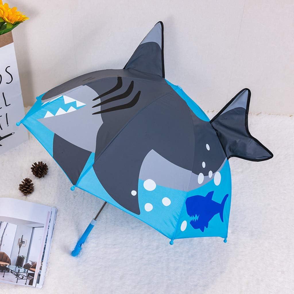 Parapluie Roydoa Children pour gar/çons et Filles avec Oreilles danimaux Parapluie personnalis/é Princesse Long Manche l/éger et Portable 11 Taille Unique