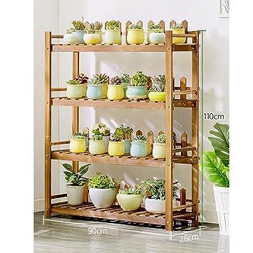 JIE Muebles para el hogar Estante para flores de madera ...