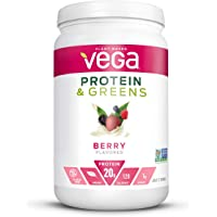 Vega Protein and Greens, Berry, Plant Based Protein Powder Plus Veggies - Vegan Protein Powder, Keto-Friendly…