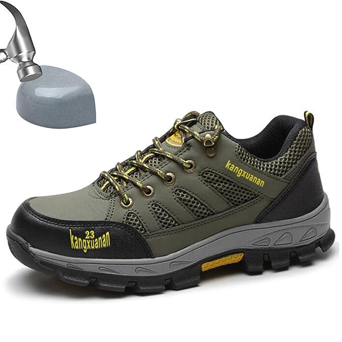 SUADEEX Uomo Donna Scarpe da Lavoro Antinfortunistiche con Punta in Acciaio Scarpe Sportive di Sicurezza Unisex Scarpe da Trekking Arrampicata Escursionismo