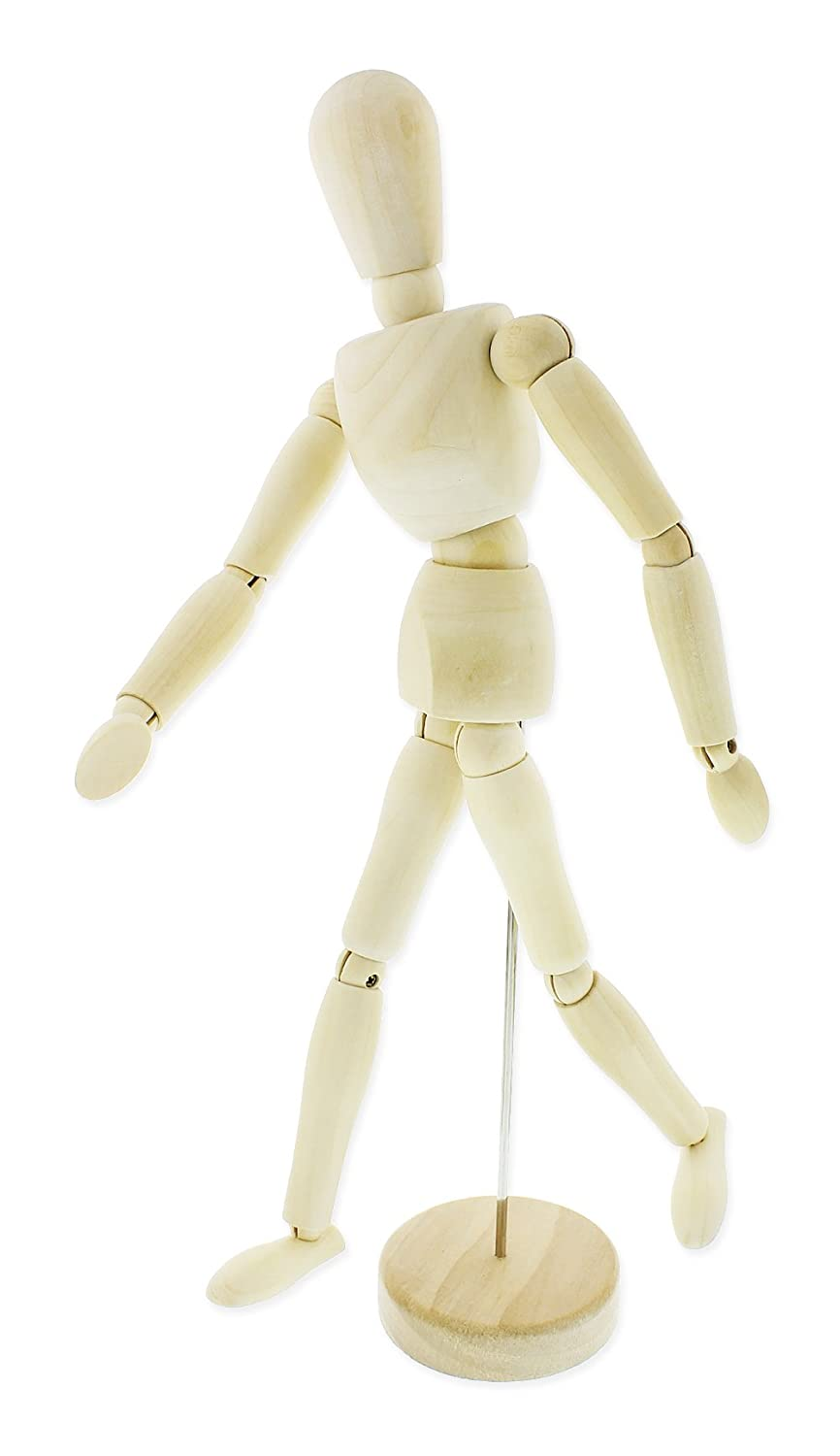 13 inches Wooden Manikin - Posable Drawing Sketching Model with Stand Juvale 4336946116
